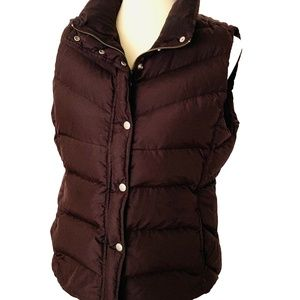 J. Crew Down Quilted Brown Puffer Vest